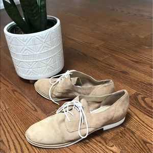 Audrey Brooke tan Alice leather oxford lace up 7
